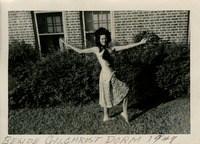 Sara Culbreth Cooper in Front of Gilchrist Hall