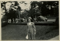 """Gussie"" In Front of Dormitories"