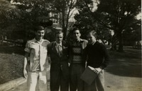 Four Male Students on Campus