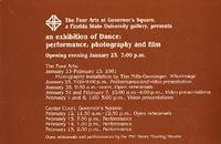 An Exhibition of Dance: performance, photography and film