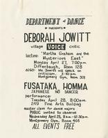 Department of Dance Lecture