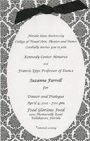 Suzanne Farrell Dinner and Dialogue