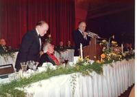 Anthony Quinn speaking at Claude Pepper's 84th birthday party