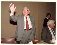 Claude Pepper waving at a dinner held in his honor