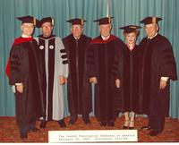Claude Pepper Posing In A Cap And Gown With A Group From The Jewish