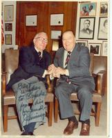 Inscribed photograph of Claude Pepper seated with Jennings Randolph