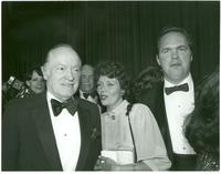 Bob Hope posing with guests at Claude Pepper's 84th birthday party