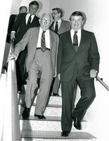 Claude Pepper walking with Don Fuqua and Governor Bob Graham