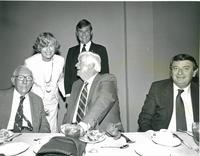 Claude Pepper attending a luncheon with Tip O'Neill, Don Fuqua, and Bob Graham
