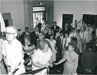 Guests attending the dedication of the Mildred and Claude Pepper Library