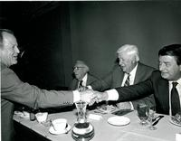 Claude Pepper attending a luncheon with Tip O'Neill and Don Fuqua