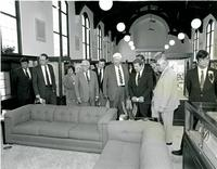 Claude Pepper and others touring the Mildred and Claude Pepper Library at the dedication