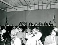 Claude Pepper attending a luncheon with Bob Graham, Bernard Sliger, Tip O'Neill, and Don Fuqua