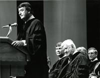 Don Fuqua speaking at an Honorary Degree ceremony for Claude Pepper