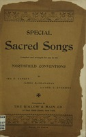 Special sacred songs