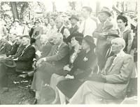 Audience listening to Claude Pepper give a speech