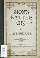 Zion's battle cry: for use in protracted meetings, Sunday schools, Christian Endeavor Societies, and other religious services