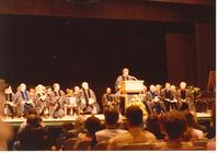 Governor Bob Graham speaking at an Honorary Degree ceremony for Claude Pepper