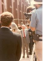 Claude Pepper standing in the crowd at the opening of the Claude and Mildred Pepper Library