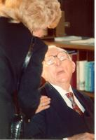 Claude Pepper talking to Frances Campbell at the opening of the Mildred and Claude Pepper Library