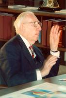 Claude Pepper talking at the opening of the Mildred and Claude Pepper Library