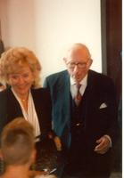 Claude Pepper with Frances Campbell at the opening of the Mildred and Claude Pepper Library