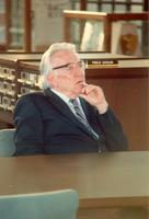 Frank Pepper attending the opening of the Mildred and Claude Pepper Library