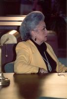 Tina Pepper attending the opening of the Mildred and Claude Pepper Library