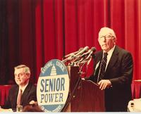 Claude Pepper addressing National Council for Senior Citizens' National Legislative Conference