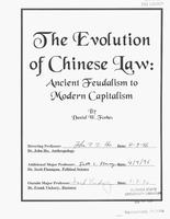 The evolution of Chinese law: ancient feudalism to modern capitalism