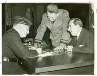 Claude Pepper being registered for the draft by J.R. Demorest in the Capitol building
