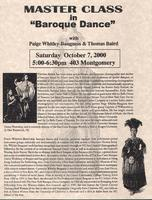 "Master Class in ""Baroque Dance"""