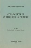 John Mackay Shaw Collection of childhood in poetry