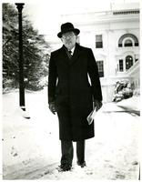 Claude Pepper leaving the White House after a visit with President Truman