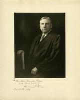 Inscribed portrait of Supreme Court Justice Harlan F. Stone
