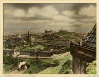 View of Edinburgh from the castle ramparts
