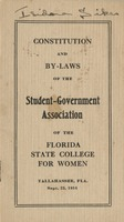Constitution and By-Laws of the Student-Government Association of the Florida State College for Women