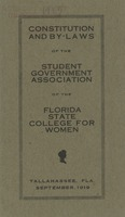 Constitution and By-Laws of the Student Government Association of the Florida State College for Women
