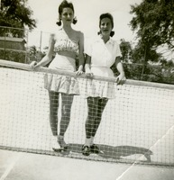 Two Students on a Tennis Court