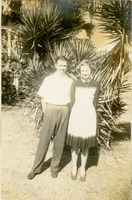 Perilie Hunt and Jim White Standing In front of a Palmetto