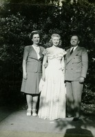 Mary Jane Koesy with Her Parents at Her Junior Speech Recital
