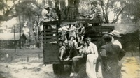 Students Riding a Truck to Camp O'Leno