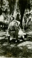 Ida Lee Rentz Posing In Front of a Tree