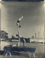 Frank Smith, Dave Balanky, and Jackie Fortune Perform a Balancing Act