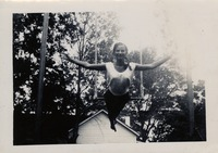 Sue Herndon McCollum Practicing On The Trapeze