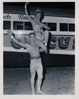 Faye Moses Posing with another Circus Performer
