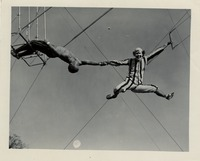 Jackie Fortune and John Mabee Performing on the Trapeze