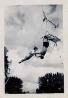 Man and Woman Practicing On The Trapeze