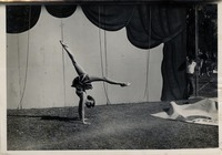 Woman Demonstrating a Hand-Balancing Pose