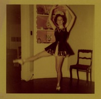 Young Sue Herndon in a Ballerina Costume